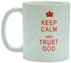 "Кружка ""Keep calm and trust God. Be still, and know that I am God..."" Ps. 46:10"
